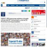ODS17. 819 personas asisten a la gala virtual del 15º Aniversario y de los XI Premios Corresponsables